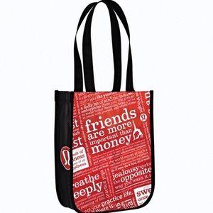 LULULEMON Mini Red & Black Tote Bag